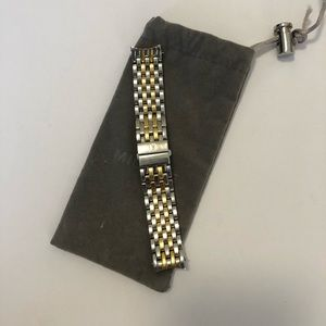 Michele Sidney Two Tone 18mm Watch Band
